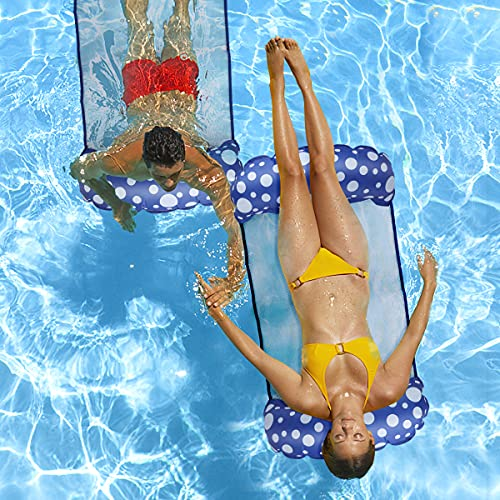 Pool Floats - 2 Pack 4-in-1 Pool Noodle Floaties for Adults Pool Floaties Pool Lounger Floats for...