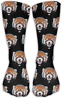 ulxjll, Calcetines Etcre Red Panda Circle Crew Vestido De Tobillo Niñas Niños Calcetines Largos Hasta La Rodilla Viaje Transpirable Divertido Medias Personalizadas 50Cm