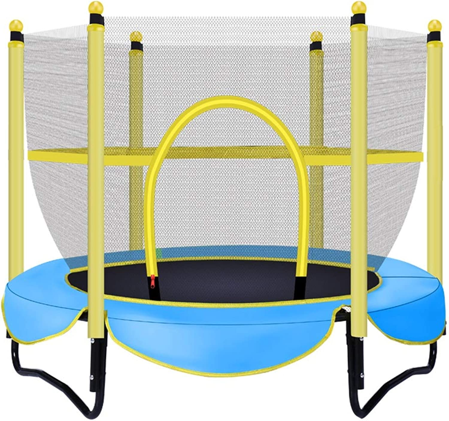 Indoor Trampoline with Enclosure  Bounce Game Outdoor Game for Beach, Yard, Lawn, Support 200kg (color   blueee)