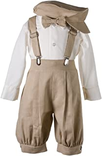 Boys Linen Knickerbocker Outfit with Pageboy Hat