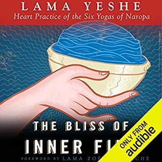 The Bliss of Inner Fire     Heart Practice of the Six Yogas of Naropa              By:                                                                                                                                 Lama Thubten Yeshe                               Narrated by:                                                                                                                                 Fajer Al-Kaisi                      Length: 6 hrs and 5 mins     82 ratings     Overall 4.6