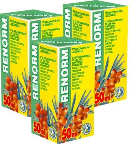 Renorm Phyto Konzentrat - Pack von 3-21 Tage Kurs - Natürliche Pflanzenextrakte Komplex - Effektive Behandlung - Säureblocker - Ulcus von Magenulkus des Zwölffingerdarms - Gastritis - Reizdarmsyndrom