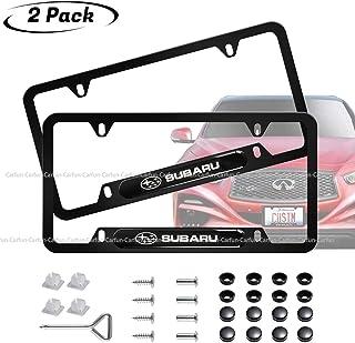 Sponsored Ad - 2pcs for Subaru License Plate Frame 3D Polyurethane Logo Matte Aluminum License Plate,with Screw Caps, Lice...