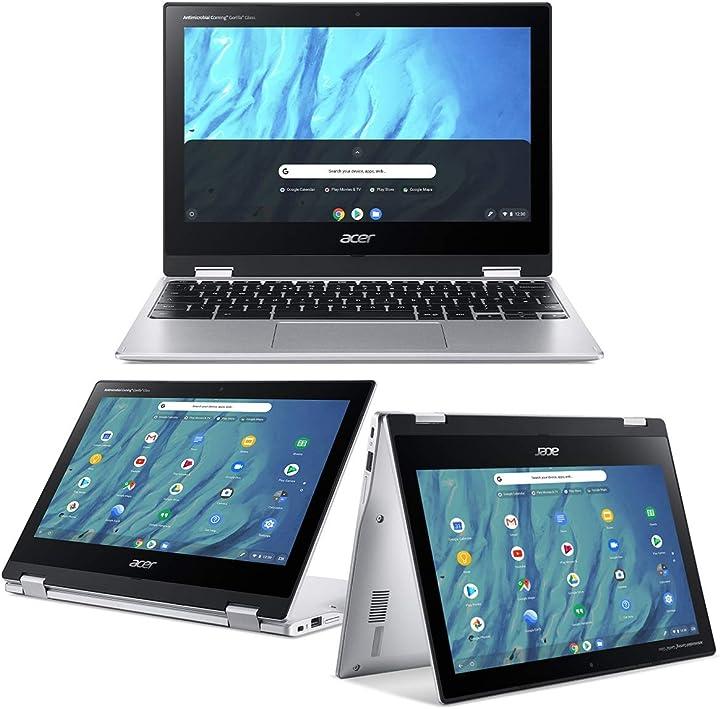 Pc portatile acer chromebook spin 311 cp311-3h-k0kh notebook touchscreen mtk mt8183 con octa-core cpu B0876H9T3V
