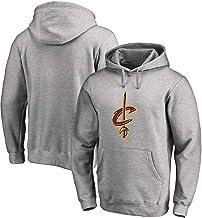 Hoodies con Capucha Cleveland Cavaliers Kevin Love Baloncesto Manga Larga Suelta Formación Camiseta Transpirable con Capucha Grey-S