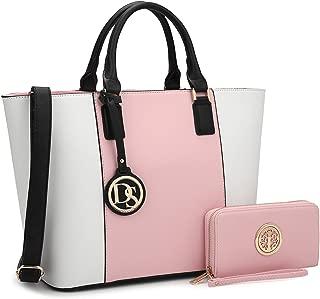 Ladies Purses and Handbags for Women Large Tote Ladies Shoulder Bag Two Tone Top Handle Satchel Work Bag