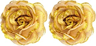Confidence Latest Hair Accessories Golden Flower Clip For Women And Girls 10 Gram Pack Of 1 (Golden (Set Of 2))