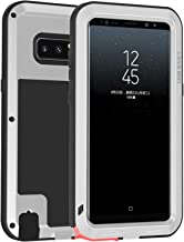 LOVE MEI for Samsung Galaxy Note 8 Case Full Body Drop Resist Metallic Bumper Wireless Charging Heavy Duty Note 8 Case Excludes Screen Protector (Silver)