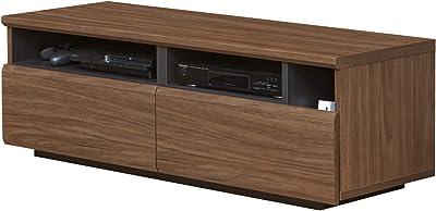 白井産業 大型 テレビ 台 32 から 50 インチ V 型 対応 ラモリア RAM-4012H BR ダークブラウン 幅120cm ゲーム 機 収納