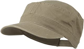 Garment Washed Adjustable Army Cap