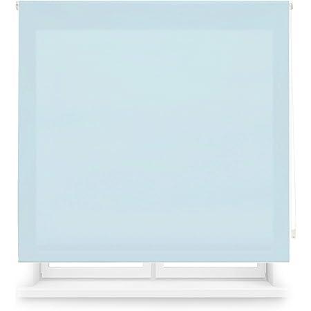 Blindecor Ara Estor enrollable translúcido liso, Azul Celeste, 100 x 175 cm (Ancho x Alto)