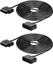 LANMU Power Extension Cable Cord for Retro-Bit Super Nintendo SNES Controller (2 Pack)