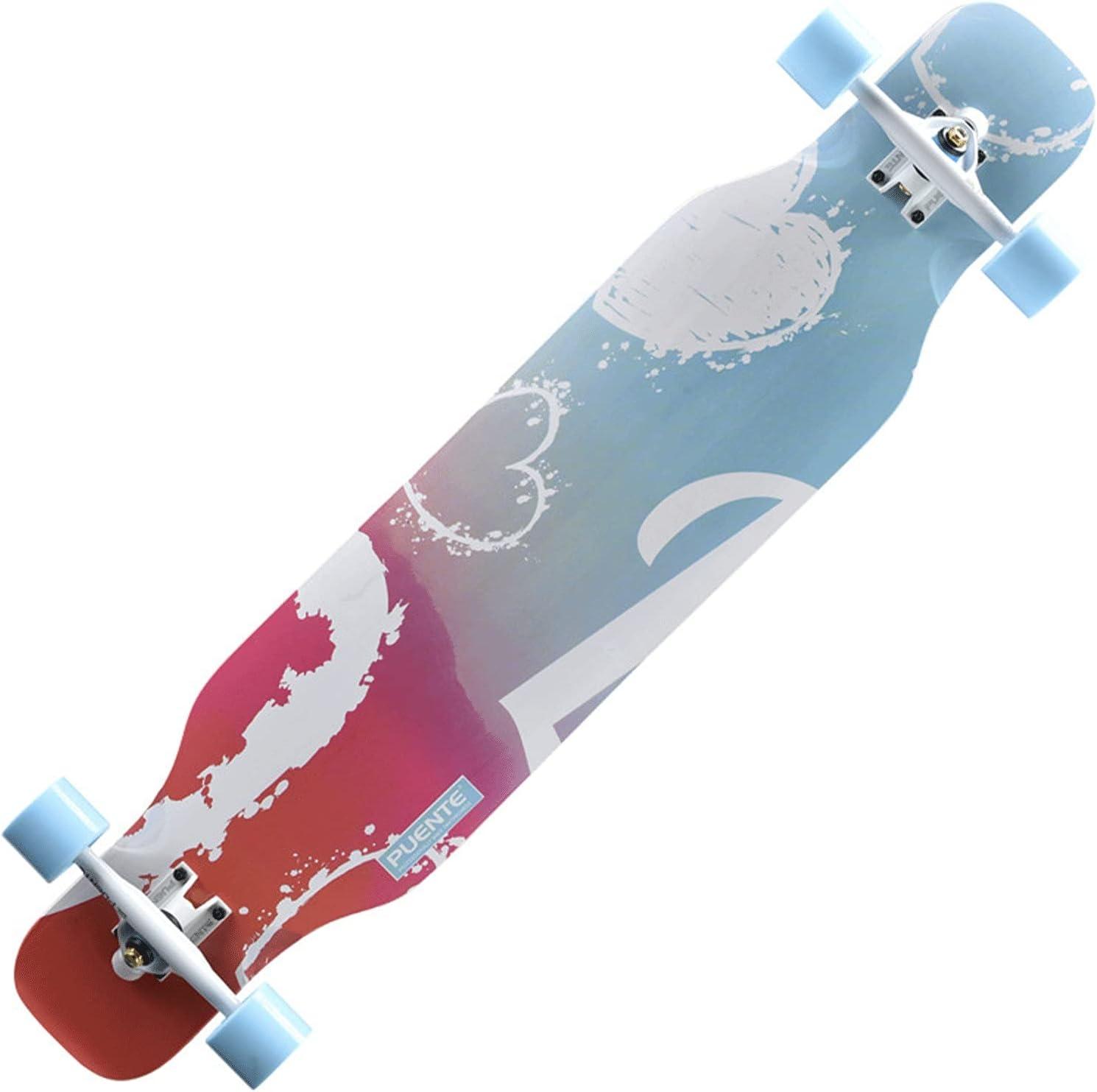EEGUAI 42inch Freeride San Antonio Mall Longboard 7-Ply Lowest price challenge Maple Natural Skateboard
