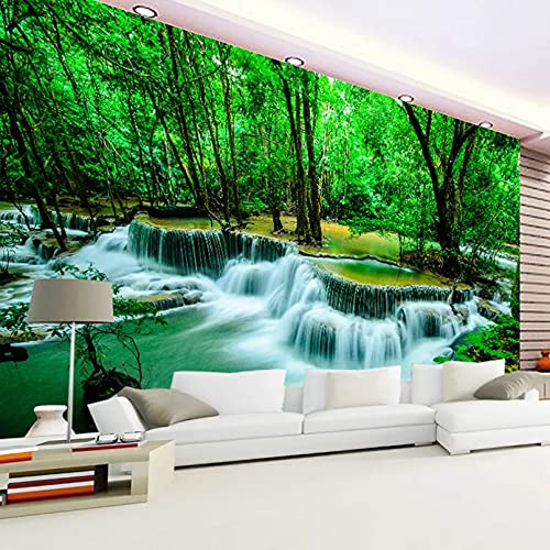 Papel pintado 3D personalizado bosque grifo cascada de agua paisaje natural foto mural papel tapiz decoración de la pared de la sala de estar 200x140cm