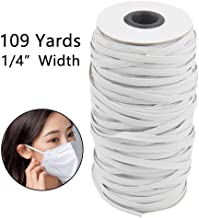 Evangelia.YM 3mm Width Elastic Rubber Bands Face Shield Cover Art Crafts Accessories Multiple Functional Stretchy Cord Ropes Jewelry Making Kits Black