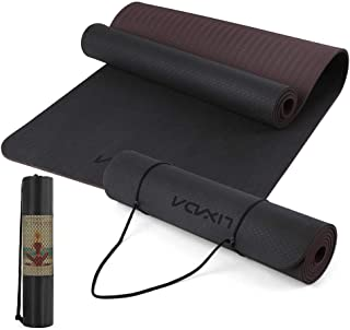 Festnight 72.05×24.01in Portable Double Dual-colored Yoga Mat Thicken Sports Mat Anti-slip Exercise Mat for Fitness Workou...