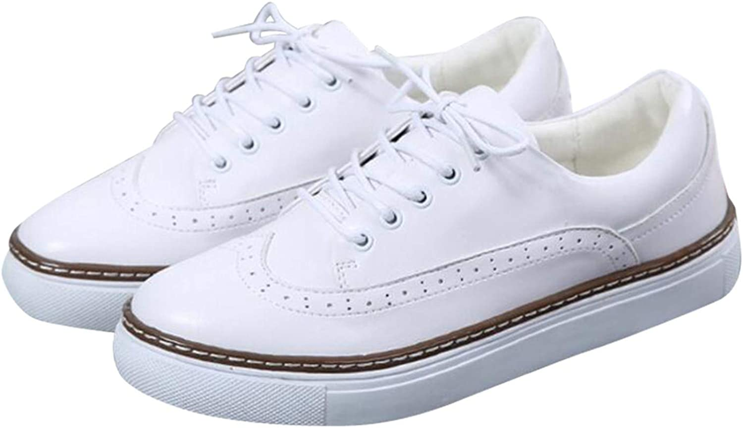 White Island 2019 Women Flat shoes Breathable Ladies Leather shoes Summer Autumn Lace up Casual Women shoes New