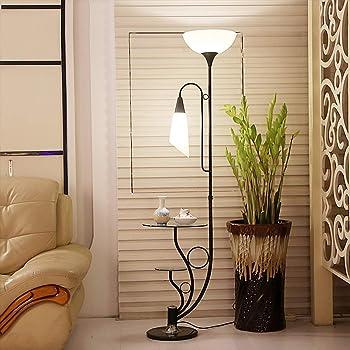 ACHNC Stehlampe Wohnzimmer, 9 Flamme Blütenform Standleuchte LED Modern  Deko Nachttischlampe Stehleuchte Mit Fußschalter,Glas Ablage, Augenschutz