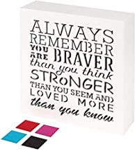 always remember you are braver than