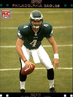 2007 Topps Football #290 Kevin Kolb RC Rookie Philadelphia Eagles Official NFL Trading Card (from just opened factory sealed set)