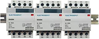 12 Pole Contactor Normally Open Lighting Contactor 120V Coil, 4 x 3 Set 30A, 40A, 50A, 60A