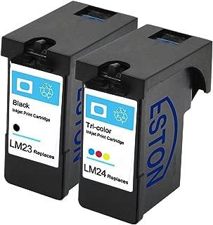 ESTON 2 Pack For Lexmark 23 24 Black/Color Ink Fits for Lexmark Z1410 Z1420 X3530 X3550 X4530 X4550