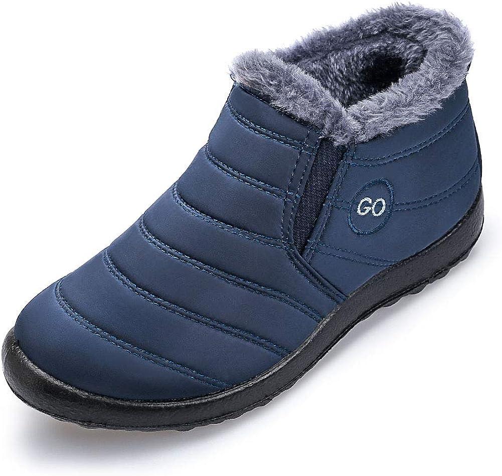 Womens Snow Boots Warm Ankle Booties Waterproof Comfortable Slip