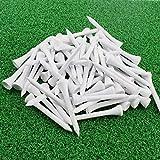 KOFULL Tees de Golf de Madera de 70 mm, Paquete de 100 Unidades, Blanco