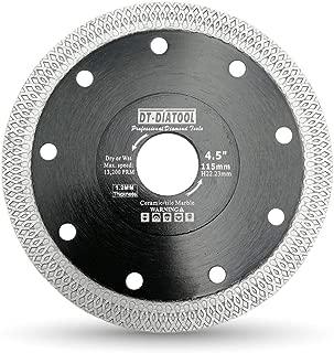DT-DIATOOL Turbo Mesh Diamond Blade 4.5 inch with X Rim Segment Cutting Tile Porcelain