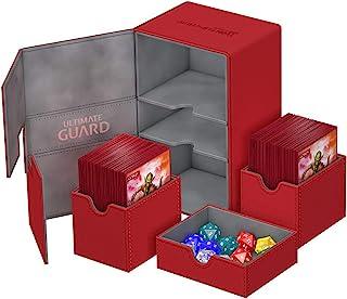 Deck Box: Twin Flip N Tray Xeno 160+ Card Game, Red