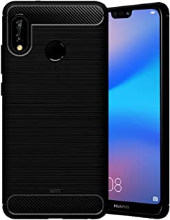 MTT Rugged Armor Shock Proof Carbon Fiber Case Cover for Huawei P20 lite
