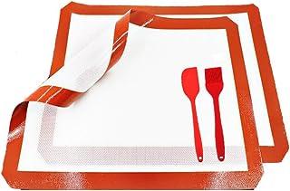 Inchant ustensiles de Cuisine, 2 réglage de Cuisson en Silicone Tapis Silicone Brosse et Spatule, réutilisable Baking Line...