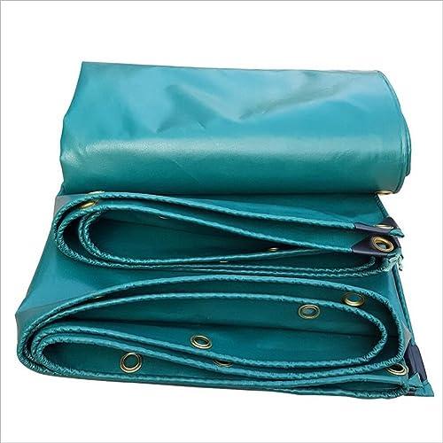 JINSH Toile antipluie imperméable bache, bache Anti-poussière de Cargaison de Camion, Tapis de Pique-Nique Anti-vieillissement résistant à l'usure, Vert (Couleur   A, Taille   5x6M)