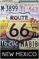 ニューメキシコ-ルート66ナンバープレート53815(米国製15x38大人用プレミアム500ピースジグソーパズル!)