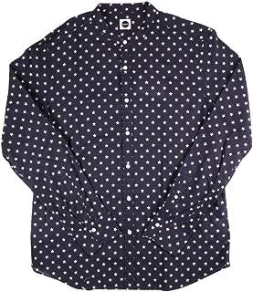 [L] [Bagutta] バグッタ 長袖シャツ メンズ ネイビー 紺 [17693] [並行輸入品]
