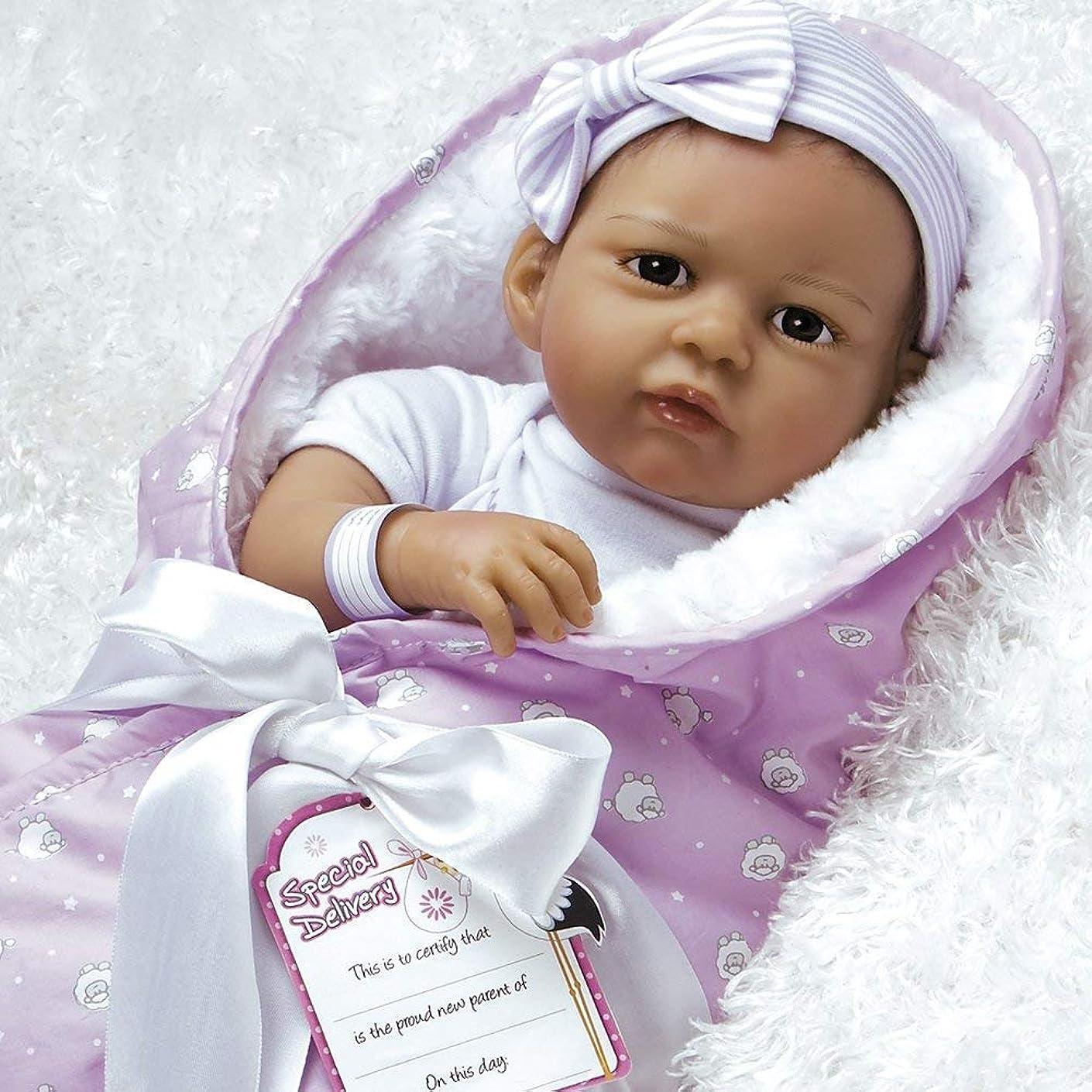 円形疎外するチャンバーパラダイスギャラリーReal Life新生児Great to Rebornベビー人形、エスニック& Hispanic人形、赤ちゃん束: The Princess Has Arrived Girl Doll Crafted in silicone...
