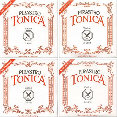 Pirastro Tonica 1 8 1 4 Violin String Set Medium Gauge with Ball End E product image