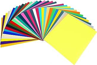 "GIO-FLEX PU Heat Transfer Vinyl 10"" x 12"" - 33 Sheets HTV Assorted Colors Bundle/Variety Pack, Adhesive Vinyl, Iron-On Transfer, Heat Press, DIY Design for T-Shirts"