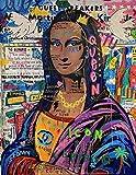 Amgwum Pintura por Números con Pinceles y Pinturas Doodle Mujer Africana Set de Bricolaje para Pintar con Pinceles Y Pinturas Decoraciones para El Hogar40x50cm (SinMarco)
