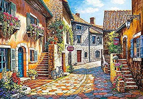 WXLSL Puzzles Rompecabezas Castorland European Streets 1000 Piezas Rompecabezas Juguetes