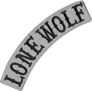 VEGASBEE® LONE WOLF REFLECTIVE EMBROIDERED IRON-ON PATCH BIKER JACKET DECORATIVE TOP ROCKER 12