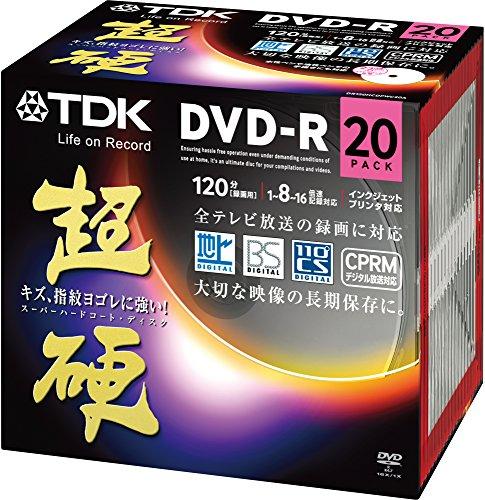 TDK 録画用DVD-R CPRM対応 16倍速対応 ホワイトワイドプリンタブル 超硬シリーズ 20枚パック DR120HCDPWC20A