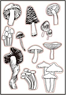 Different Type of Mushroom Clear Stamps for Christmas Cards Making Decoration and Scrapbooking Rubber Stamps for Craft