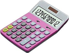 $50 » Rnwen Calculator Large Screen Desktop Office Calculator Solar Calculator Two Colors Optional Basic (Color : Pink, Size : O...