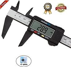 Diagtree 150mm 6inch LCD Digital Electronic Digital Vernier Caliper Carbon Fiber Vernier Caliper Gauge Micrometer Measuring Micrometer - Auto Off Featured Measuring Tool