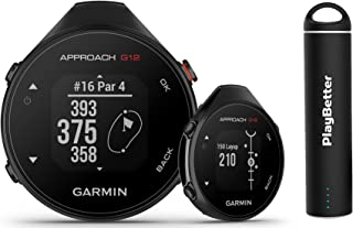 $159 » Garmin Approach G12 Golf GPS Handheld Bundle | Includes PlayBetter Portable Charger | Golf GPS Device 2021 | Compact, 42,0...