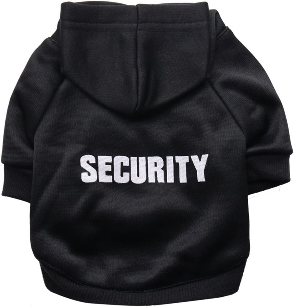 GINBL Pet Small Dog Security Print Hoodie Dogs Ranking TOP12 Cute OFFer for Sweatshi