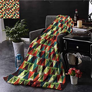 SSKJTC Contemporary Blush Throw Blanket Retro Argyle Inspired Bed Sleeping Travel Pets Reading W40 xL60