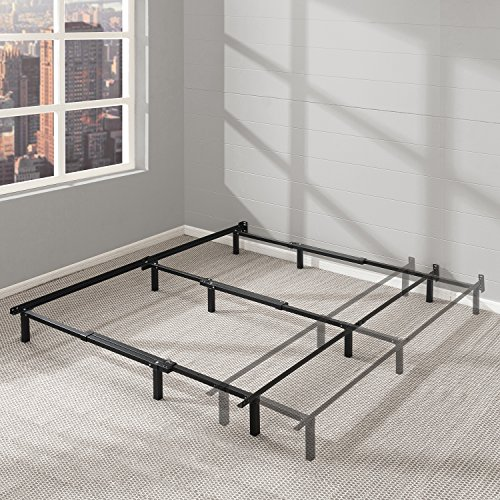 "Best Price Mattress Adjustable Bed Frame - 7"" Metal Platform Bed Frame w/Heavy Duty Steel Construction Compatible with Twin, Full, and Queen Size"