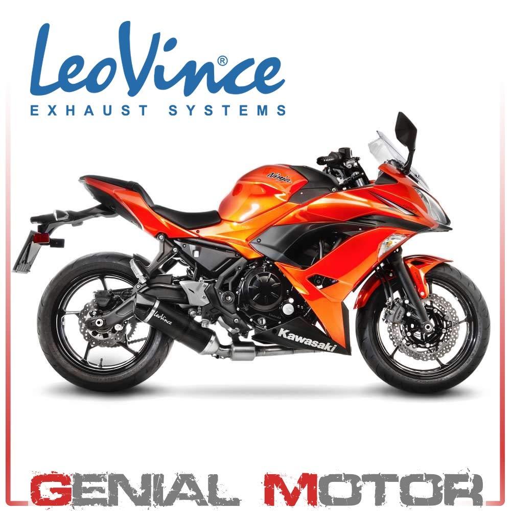 18-20 Kawasaki EX400ABS Leo Vince LV-10 Slip-On Exhaust Stainless Steel